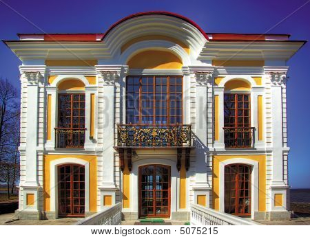 This Beautiful Building Is Situated In Petergof, St. Petersburg, Russia