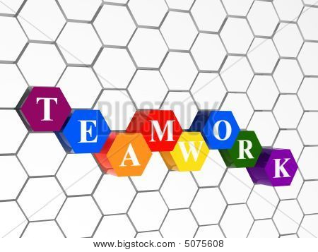 Teamwork In Colour Hexahedrons With Cellular Structure