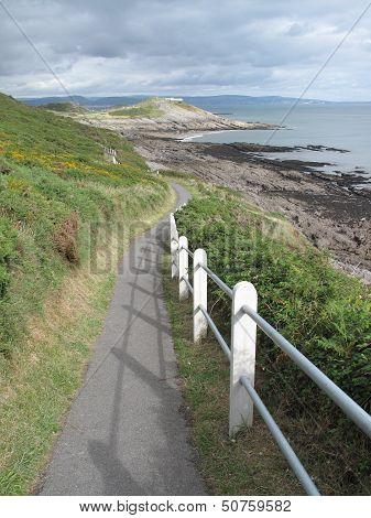 Fenced Coastal Footpath