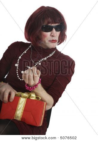 A Man Disguised In A Woman
