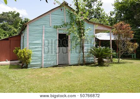 Typical Family Home In The Dominican Republic