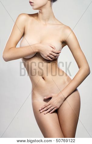 Perfect Body, Isolated, White Background