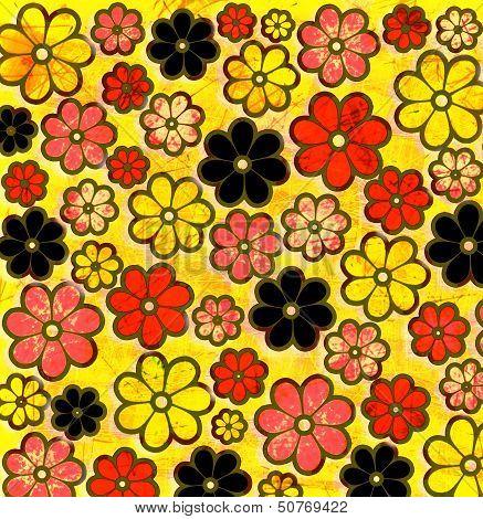 Psychedelic Graffiti Flower Art Pattern