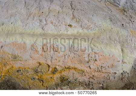 Sinther And Sulphur In Geothermal Area (texture)