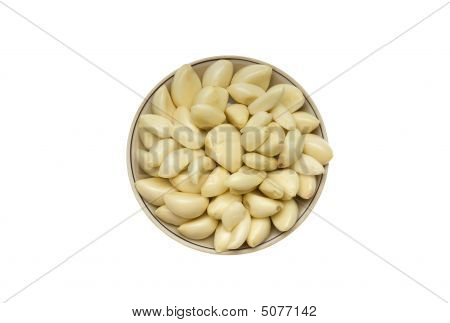 Garlic On A Round Plate