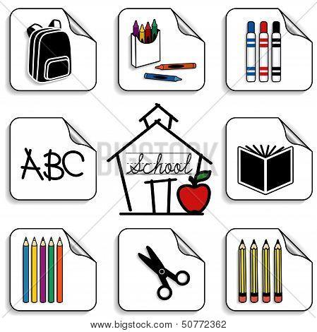 Schoolhouse Stickers