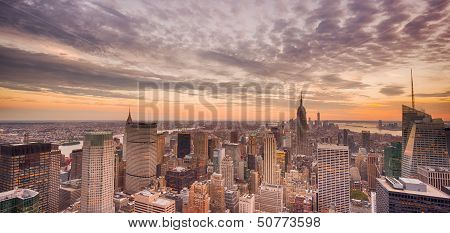 New York City at sunrise