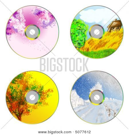 4 Seasons CDs Templates