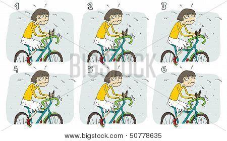 Match Pairs Visual Game: Bike