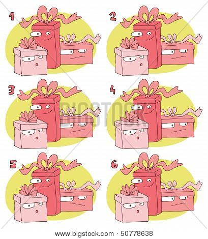 Match Pairs Visual Game: Gifts