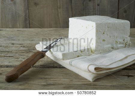 Cube Of Fresh Feta Cheese
