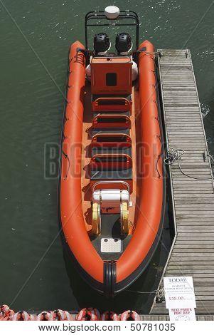 Orange Rib In Brighton Marina