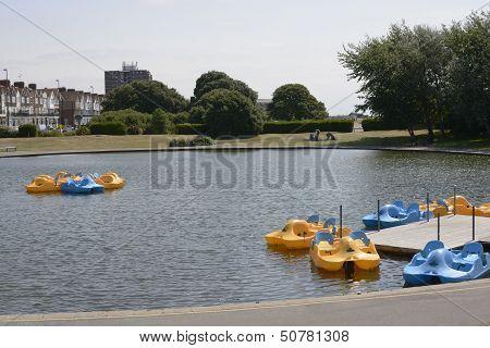 Boating Pond At Littlehampton. Sussex. England