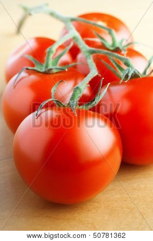 Red Vine Tomatoes On Table