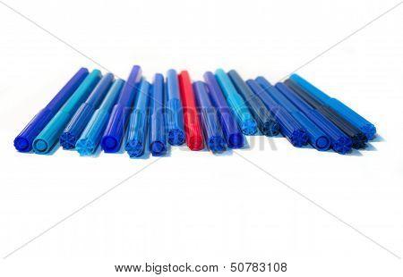 All Shades Of Blue Felt-tip Pens