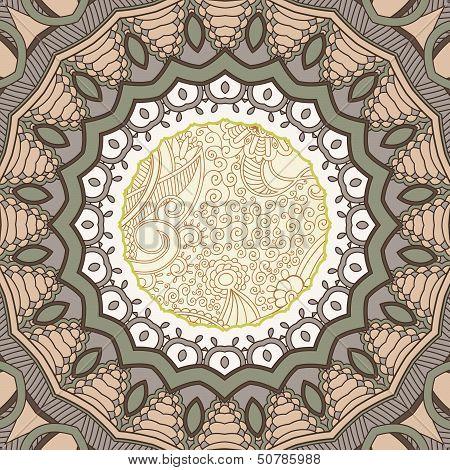 Ornamental lace pattern. Circle.