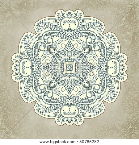 Abstract vector floral and ornamental item background