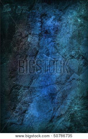 Blue Grungy Stone Background