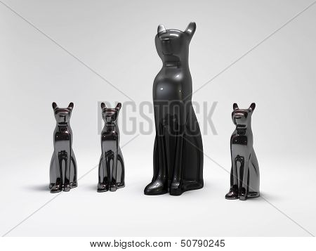 Cats Statues