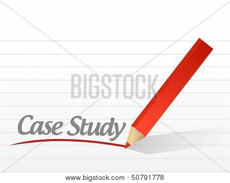 Case Study Written On A White Paper