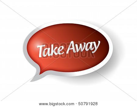 Take Away Message Bubble Illustration