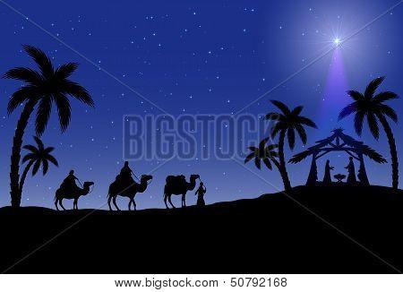 Escena Christian Christmas