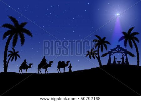 Christian Christmas scène