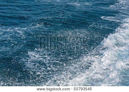 Wavy sea water
