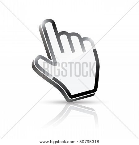 3d vector hand cursor