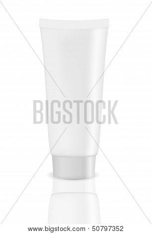 White cream tube vector illustration