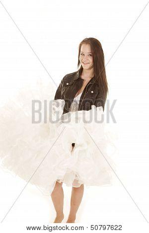 Big Smile On Dress Fluff Dress Smile