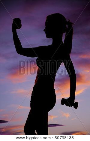 Weights Lifting Silhouette Teen