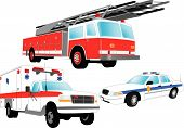 image of fire truck  - Emergency vehicles  - JPG