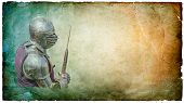 picture of armor suit  - Armored knight with battle - JPG