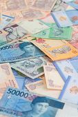 stock photo of ringgit  - Asian currencies of india - JPG