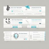 pic of field mouse  - Website template design menu navigation elements with icons - JPG