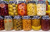 Pickled Vegetables And Fruit In Jars