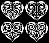 Set of Ornate Heart Shape