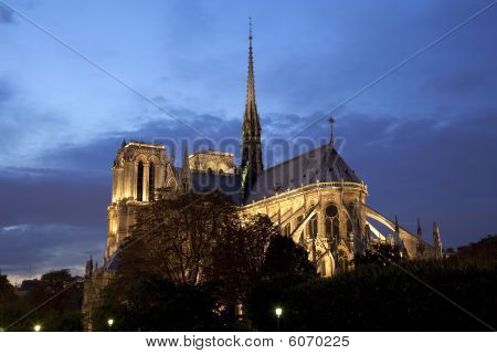 Notre-dame Cathedral At Night