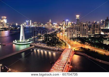 Night View Of Shanghai The Bund