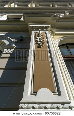 Fragment Of Art Nouveau Building In Riga. Latvia