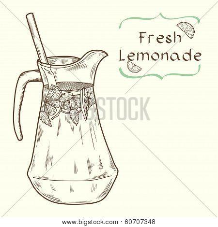 Lemonade jug sketch