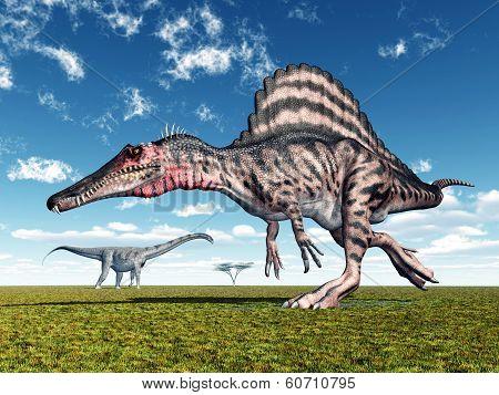 Spinosaurus and Puertasaurus
