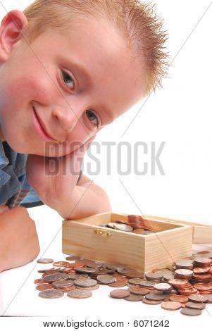 Child Over Money Chest
