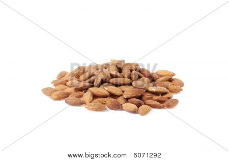 Whole Almonds Isolated