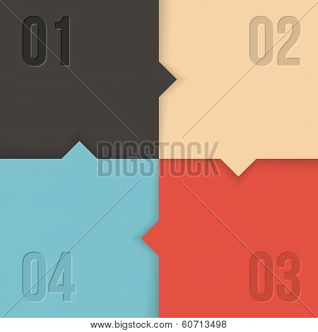 vector infographics with 4 steps