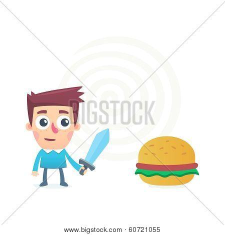 battle with harmful food