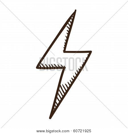 Lightning danger symbol.