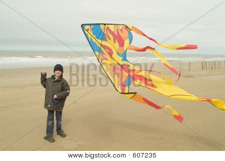 Flying His Kite