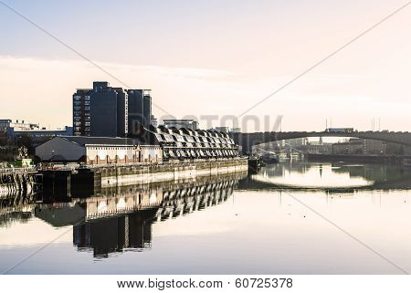 River Clyde In Glasgow In The Morning Light